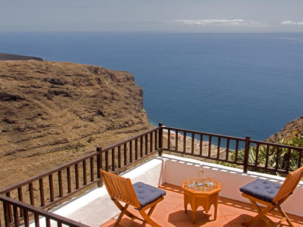 terrace with sea view, La Dama, La Gomera
